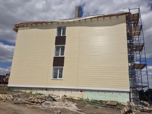 """Завершается строительство многоквартирного дома в мкр. """"Парус"""" ул. Лодочная, д. 16."""
