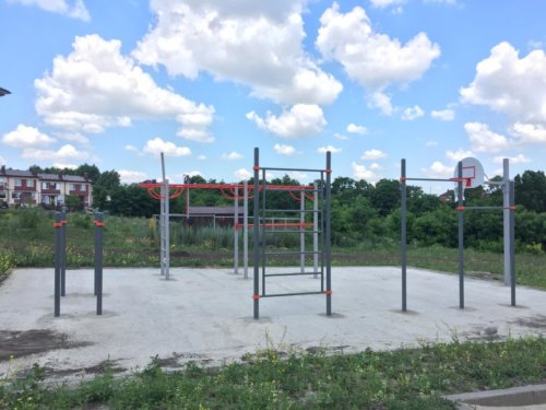 """В мкр. """"Парус"""" открыта еще одна детская площадка и спортплощадка."""